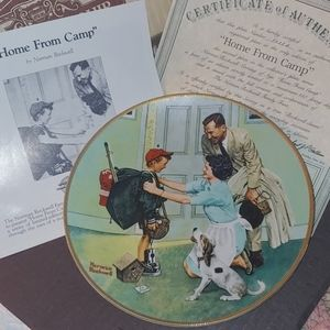 NORMAN ROCKWELL KNOWLES HOME FROM CAMP PLATE